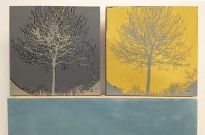 Siebdruck auf Holz, 10 x 10 cm, 2015