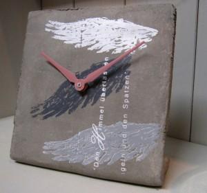 Siebdruck auf Beton - Uhr