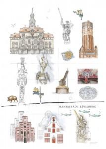 Zeichnungen aus 2012-2014 auf 300g-Karton