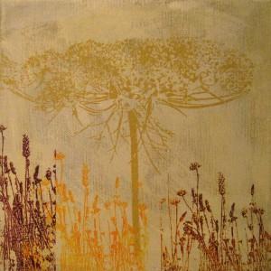 Acryl/Siebdruck, 25 x 25 cm, 2014
