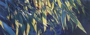 """""""Bambus"""", Öl auf LW, 20x50cm, 2016"""
