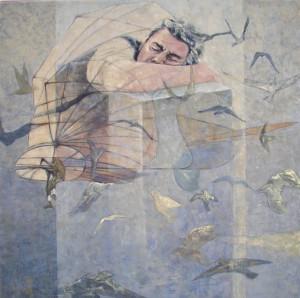Acryl auf Leinwand, 120 x 120 cm, 2009